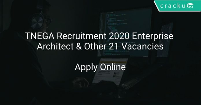 TNEGA Recruitment 2020 Enterprise Architect & Other 21 Vacancies
