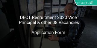DECT Recruitment 2020 Vice Principal & other 08 Vacancies