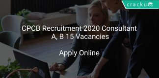 CPCB Recruitment 2020 Consultant A, B 15 Vacancies
