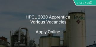 HPCL Recruitment 2020 Apprentice Various Vacancies