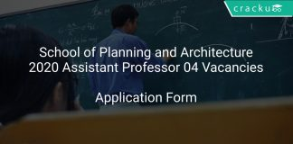 School of Planning and Architecture Recruitment 2020 Assistant Professor 04 Vacancies