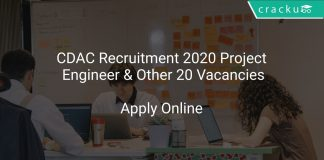 CDAC Recruitment 2020 Project Engineer & Other 20 Vacancies