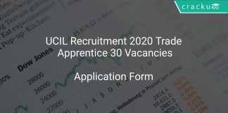 UCIL Recruitment 2020 Trade Apprentice 30 Vacancies