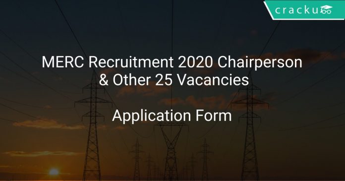 MERC Recruitment 2020 Chairperson & Other 25 Vacancies
