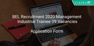 BEL Recruitment 2020 Management Industrial Trainee 09 Vacancies