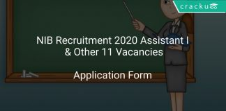 NIB Recruitment 2020 Assistant I & Other 11 Vacancies