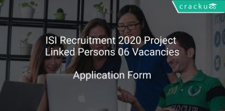 ISI Recruitment 2020 Project Linked Persons 06 Vacancies