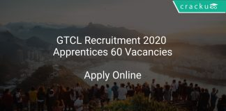 GTCL Recruitment 2020 Apprentices 60 Vacancies