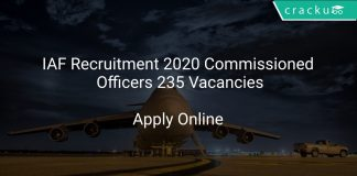 IAF Recruitment 2020 Commissioned Officers 235 Vacancies