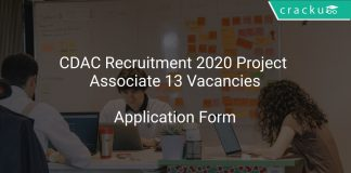 CDAC Recruitment 2020 Project Associate 13 Vacancies