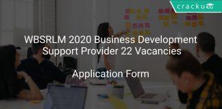 WBSRLM Recruitment 2020 Business Development Support Provider 22 Vacancies