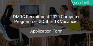 DMRC Recruitment 2020 Computer Programmer & Other 18 Vacancies
