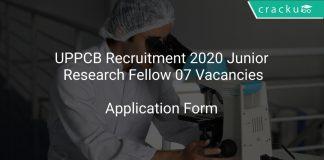 UPPCB Recruitment 2020 Junior Research Fellow 07 Vacancies
