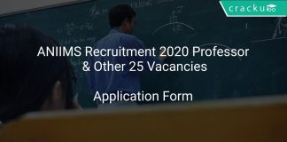 ANIIMS Recruitment 2020 Professor & Other 25 Vacancies