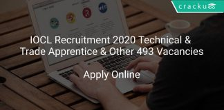 IOCL Recruitment 2020 Technical & Trade Apprentice & Other 493 Vacancies