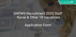 DHFWS Recruitment 2020 Staff Nurse & Other 18 Vacancies