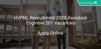 HVPNL Recruitment 2020 Assistant Engineer 201 Vacancies