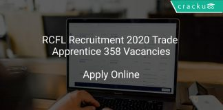 RCFL Recruitment 2020 Trade Apprentice 358 Vacancies