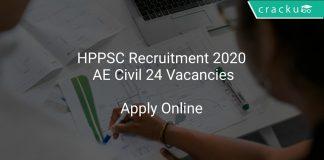 HPPSC Recruitment 2020 AE Civil 24 Vacancies