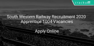 South Western Railway Recruitment 2020 Apprentice 1004 Vacancies
