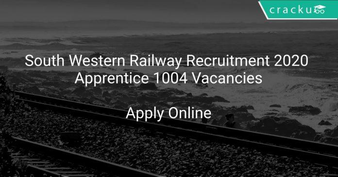 South Western Railway Recruitment 2020 Apprentice 1004 Vacancies