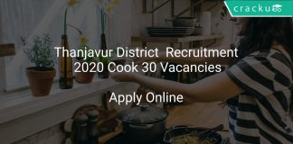 Thanjavur District Recruitment 2020 Cook 30 Vacancies