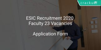 ESIC Recruitment 2020 Faculty 23 Vacancies