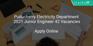 Puducherry Electricity Department 2021 Junior Engineer 42 Vacancies