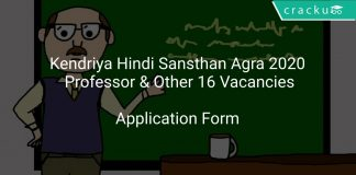 Kendriya Hindi Sansthan Agra 2020 Professor & Other 16 Vacancies