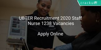 UBTER Recruitment 2020 Staff Nurse 1238 Vacancies