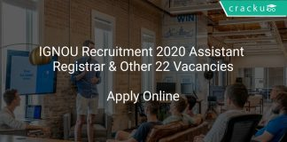 IGNOU Recruitment 2020 Assistant Registrar & Other 22 Vacancies