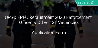 UPSC EPFO Recruitment 2020 Enforcement Officer & Other 421 Vacancies