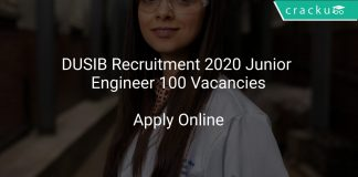DUSIB Recruitment 2020 Junior Engineer 100 Vacancies