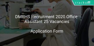 DMRHS Recruitment 2020 Office Assistant 25 Vacancies