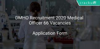 DMHO Recruitment 2020 Medical Officer 66 Vacancies