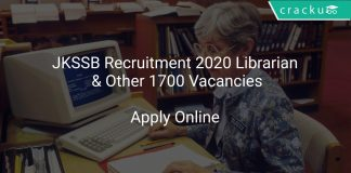 JKSSB Recruitment 2020 Librarian & Other 1700 Vacancies