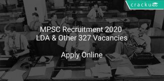 MPSC Recruitment 2020 LDA & Other 327 Vacancies