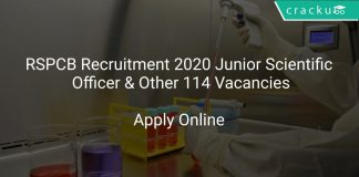 RSPCB Recruitment 2020 Junior Scientific Officer & Other 114 Vacancies