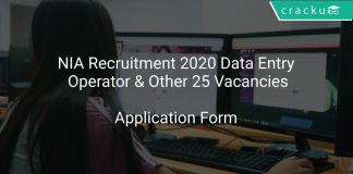 NIA Recruitment 2020 Data Entry Operator & Other 25 Vacancies