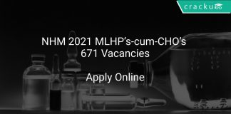 NHM Recruitment 2021 MLHP's-cum-CHO's 671 Vacancies