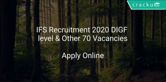 IFS Recruitment 2020 DIGF level & Other 70 Vacancies