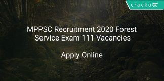 MPPSC Recruitment 2020 Forest Service Exam 111 Vacancies