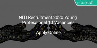 NITI Recruitment 2020 Young Professional 10 Vacancies