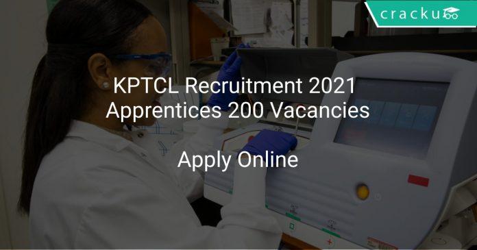 KPTCL Recruitment 2021 Apprentices 200 Vacancies