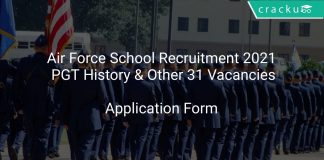 Air Force School Recruitment 2021 PGT History & Other 31 Vacancies
