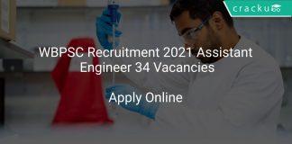 WBPSC Recruitment 2021 Assistant Engineer 34 Vacancies