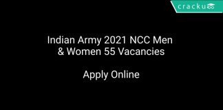 Indian Army 2021 NCC Men & Women 55 Vacancies