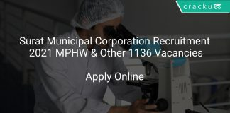 Surat Municipal Corporation Recruitment 2021 MPHW & Other 1136 Vacancies