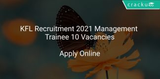 KFL Recruitment 2021 Management Trainee 10 Vacancies