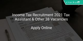 Income Tax Recruitment 2021 Tax Assistant & Other 38 Vacancies